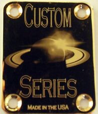 Gold Saturn Engraved Guitar Neck Plate  fits Fender tele/strat/squier