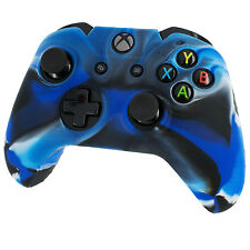 ZedLabz silicone skin grip protective cover for Xbox One controller - Camo blue
