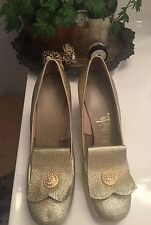Vintage Lifestride Gold Glitter Sparkle Pumps~Pinterest Wedding Party Worthy!