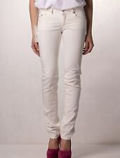 "Gas Womens Britty Ivory White Pants 32"" x 34"" BNWT Sl Straight Jeans 60078 12 14"