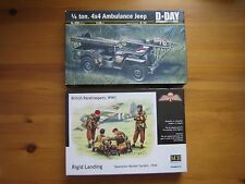 1/35 plastic model military,ITALERI 326,Ambulance jeep+British Paratroopers