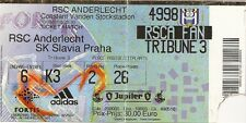 R.S.C. ANDERLECHT - SK SLAVIA PRAHA - 10/08/2005 - Ticket football Coupe Europe