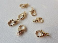 10 x 16mm PALE Rose Gold Plated Lobster Clasps