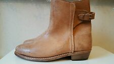 New mens size 7 cowboy western beige leather ankle boot size 7