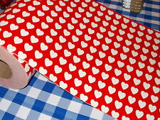 VTG VALENTINE'S DAY OLD STORE WRAPPING PAPER 2 YARDS GIFT WRAP HEART