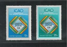 UNITED NATIONS, NEW YORK # 298-299 1978 CIVIL AVIATION ORGANIZATION (ICAO)