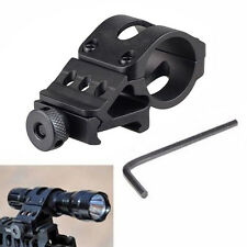 45 Degree Offset Side Picatinny Weaver Rail Flashlight Laser Mount Holder Black