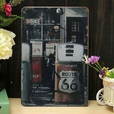 Route 66 Petro Station Retro Classic Metal Sign Tin Plaque Wall Decor 20 x 30cm