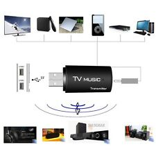3.5mm USB Bluetooth Stereo Audio Transmitter Music Dongle Adapter for TV PC