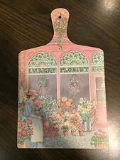 Country Cupboard Shabby Chic Cutting Board/Wall Art Mint  Wilscombe Melamine GUC
