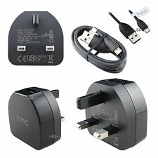 GENUINE HTC TC B270 MAINS CHARGER+MICRO USB CABLE FOR DESIRE ONE M8 M7 610 310