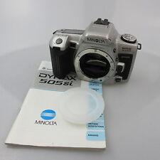 Minolta Dynax 505si super SLR ohne Batterien und Gurt, mit body cap und manual