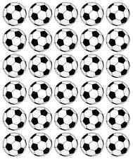 30 x Footballs Cupcake Toppers Edible Wafer Paper Fairy Cake Toppers