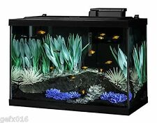 Aquarium 20 Gallon Fish Tank Kit Filter Plants Heater Color Change LED Light New