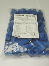 BAG of 100 Blue Wire Nuts Connectors Winged Twist 14-6 AWG, 600V, 105C