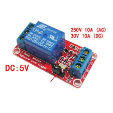 5V 1 channel Relay module with optocoupler isolation High and low level trigger