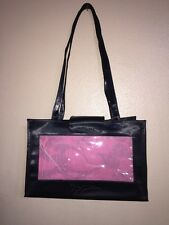 """Mary Kay Black Pink  Consultant Supply Tote Bag Clear Window New 13x8.75x7"""""""