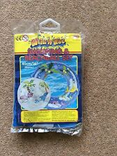 Inflatable beach ball and swimming ring set