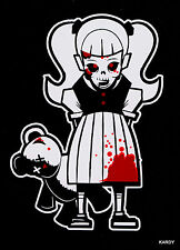 *BLOODY* Zombie Kid Girl Teen Daughter Family Car Decal Sticker  + *FREE DECAL*