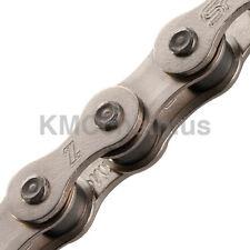 """KMC Z510HX BMX or fixie single speed bicycle chain 1/2"""" X 1/8"""" 112 links NICKEL"""