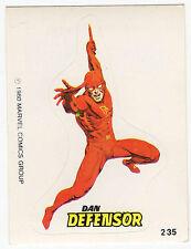 1980 Spanish Marvel Comics Superhero Terrabusi Trade Sticker - #235 - Daredevil