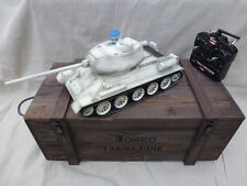 Torro 1/16 RC USSR T-34/85  BB Tank White 2.4GHz Metal 360 Turret Wooden Box