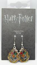 New Official Genuine Harry Potter Silver Plated Hogwarts Crest Earrings