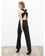 NWT Banana Republic Cross-Back Jumpsuit, Black, Size 10P,10 Petite