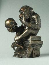 Rheinhold PHILOSOPHIZING MONKEY WITH SKULL MINI STATUE SCULPTURE Pocket Art