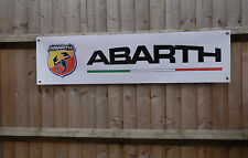 Abarth workshop  garage pvc banner sign, Fiat 500, 500C, Punto EVO