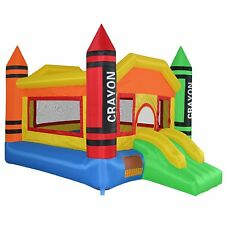 Bounce House Jumper Inflatable Moonwalk Castle Slide Bouncy Moon includes Blower
