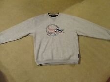 """AMERICAN AIRLINES..""""AROUND THE GLOBE""""..AA CREDIT UNION...PULLOVER..ADULT LARGE.."""