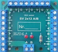 Stromverteiler SV 2x12 AB  LED, Statusanzeige, 2 Eingänge 24 Ausgänge, Verteiler