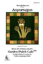 Garden Patch  Cats Pattern -ASPURRAGUS  Helene Knott Story Quilts Applique