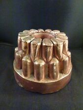 English Jelly Pudding Art Copper Victorian Food Mold  Antique MARKED V.V.