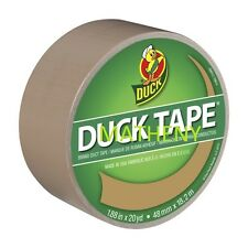 Solid Beige Color ~ Duck Brand Duct Tape ~ Tan Sand Khaki Print Series ~ 20yds