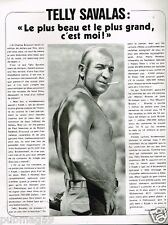 Coupure de Presse Clipping 1976 (1 page) Telly Savalas
