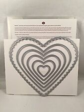 Hearts Framelits Stampin Up New Valentines Scallop Big Shot