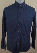 Claiborne Navy Blue Long Sleeve Button Down Men's Shirt - Size Large