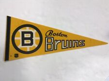 Boston Bruins Signed Terry O'Reilly vintage Nhl Licensed Pennant Auto 1970s Coa