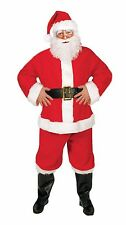 Large Santa Claus Costume Premium Suit Men's Fancy Dress Father Christmas Party