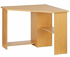 Corner Computer Desk Beech Home Office Modern Furniture Table PC Workstation NEW