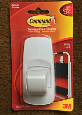 3M COMMAND LARGE UTILITY GENERAL PURPOSE HOOK HOLDS UPTO 3.4KG / 7.5LB 17004