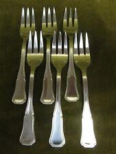 6 fourchettes à gateaux métal argenté filet contours (pastry forks)