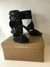 ASH HEIDI GLADIATOR Cuffed Black Strappy High Heel Sandals EU 41 UK 7 NEW