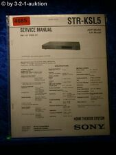 Sony Service Manual STR KSL5 Home Theater System (#4685)