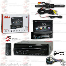 "BOSS BV9965 DIN MOTORIZED 7"" TOUCHSCREEN DVD RECEIVER ""FREE"" LICENSEPLATE CAMERA"