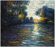 Morning on the Seine - Hand Painted Claude Monet Impressionist Oil Painting