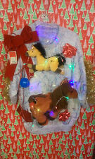 """HORSE """" UGLY """" TACKY Christmas SWEATER LARGE LIGHTS WOMENS L@@K"""