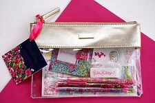 LILLY PULITZER AGENDA BONUS PACK Wild Confetti Lagoon Stickers Pens Notes Pouch